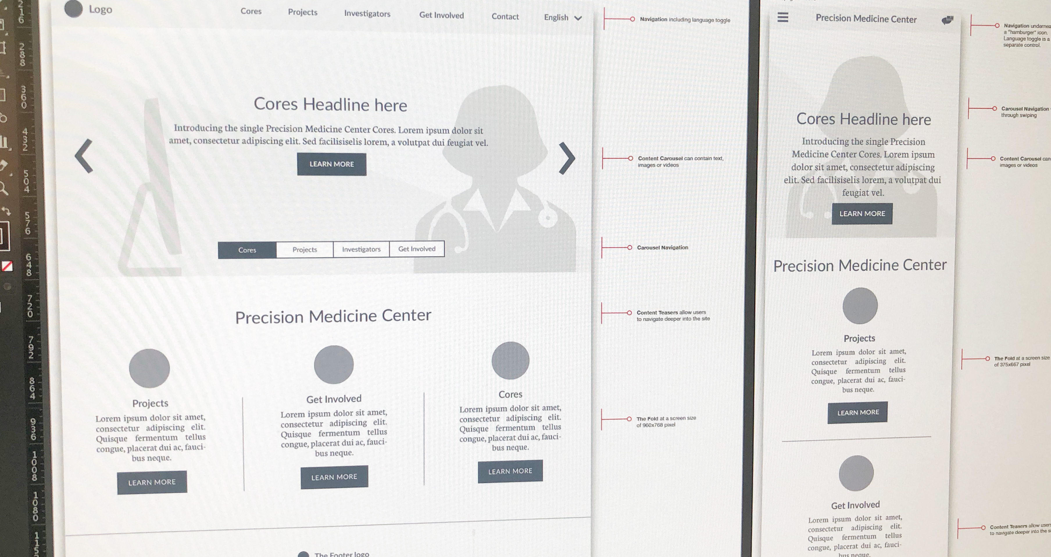 UX & UI and Web design for Vanderbilt-Miami-Meharry